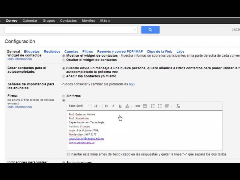 Cómo crear o modificar la firma de tu correo Gmail